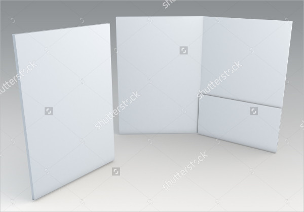 3D Blank Folder for Document Papers