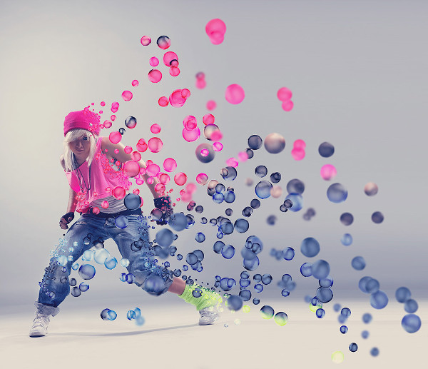 3D Bubbles Photoshop Action