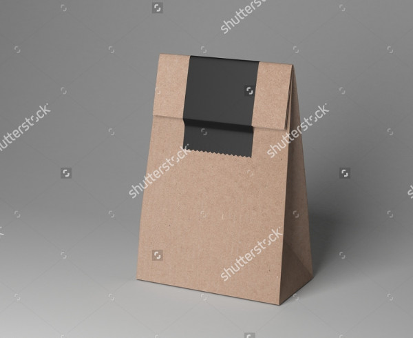 3D Rendering Paper Cup Bag Mockup Illustration