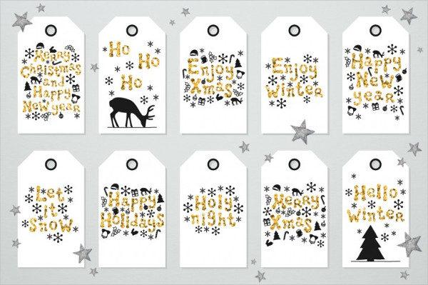 40 Christmas Gift Tags Holiday Set