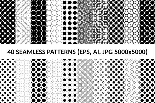 40 Seamless Circle Patterns