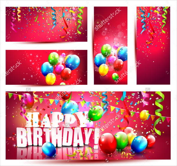5 Colorful Birthday Banners Designs