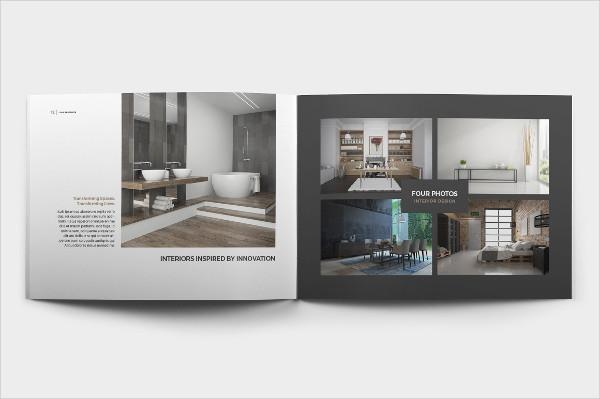 A4 Landscape Brochure Template