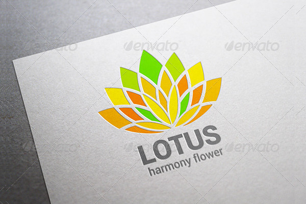 Abstract Lotus Flower Logo Template