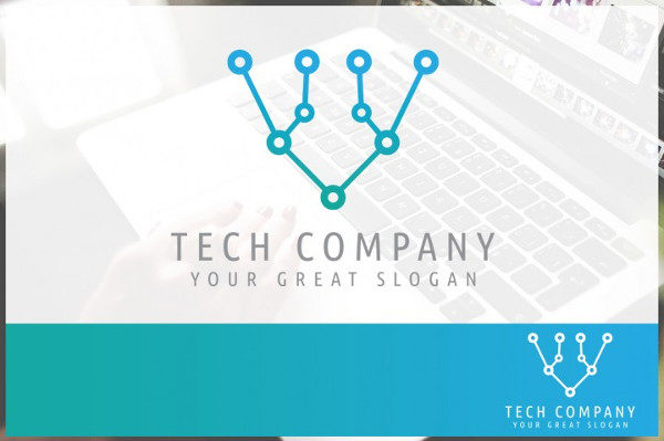 Abstract Technology Company Logo