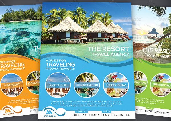 31 cool travel flyer templates free premium download resort travel agency flyer template maxwellsz