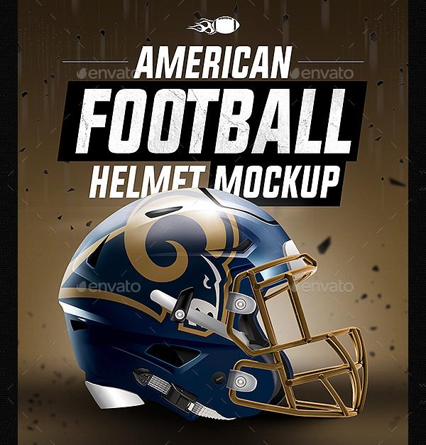 American Football Helmet Mock-up PSD
