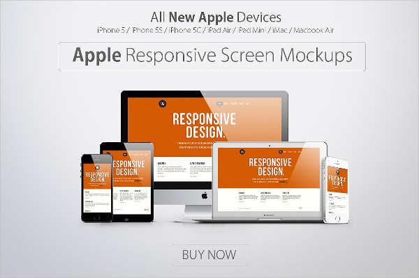 Apple Responsive Screen Mock-Ups
