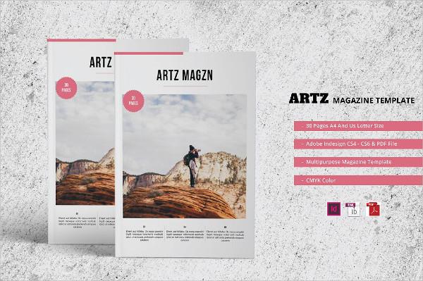 Art Printable Magazine Template