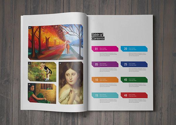 Art Illustration Magazine Template