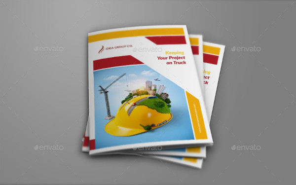Attractive Construction Company Bifold Brochure