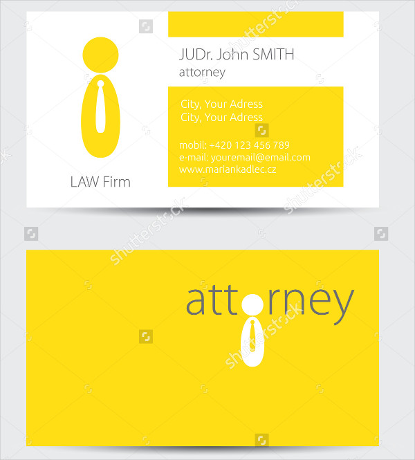 Attroney Business Card Template