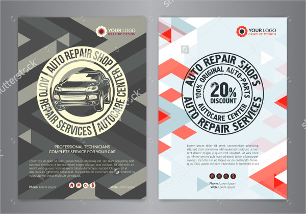 Auto Repair Shop Flyer Template