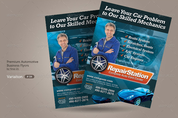 Automotive Business Flyers Bundle