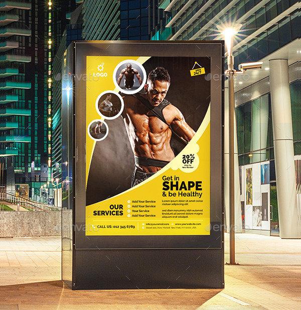 Awesome Fitness Club Poster Template