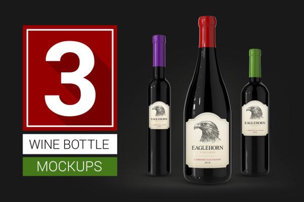 Awesome Wine Bottle Mockups