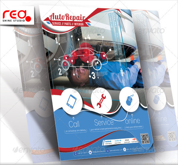 Popular Auto Repair Flyer or Poster Template