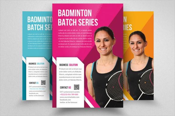 Badminton Championships Flyer Design