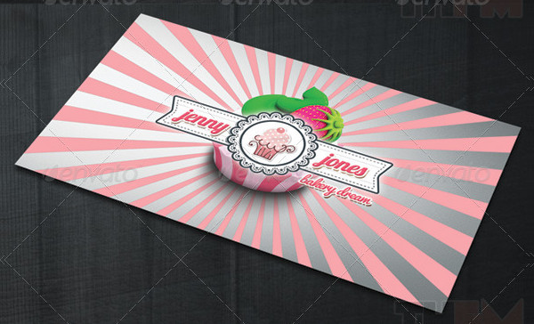 Bakery & Cupcakes Business Card Template
