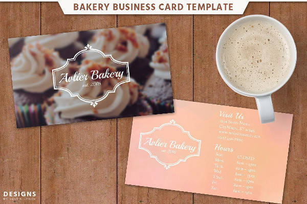 Bakery Designed Business Card Template