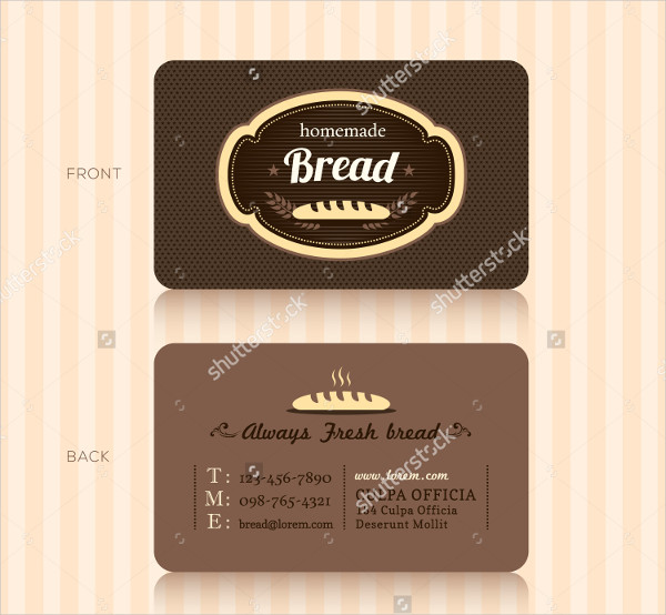 Bakery House Business Card Template
