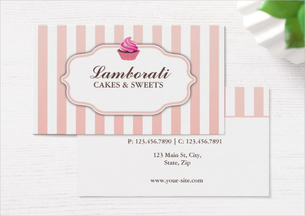 Bakery Pink Business Card Template