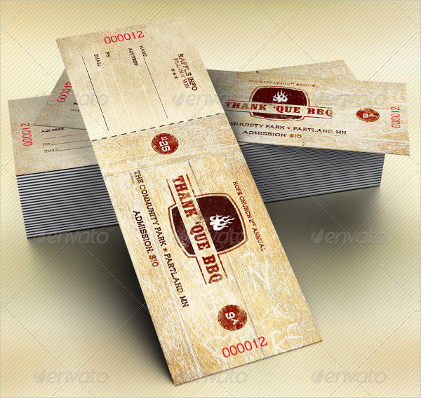 Barbecue Flyer Plus Ticket Template Bundle