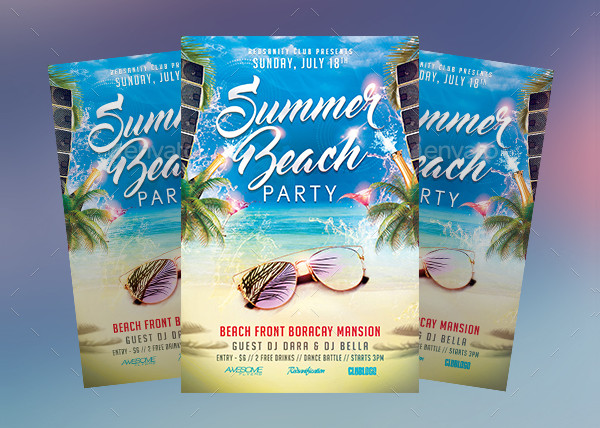 Beach Club Party Flyer