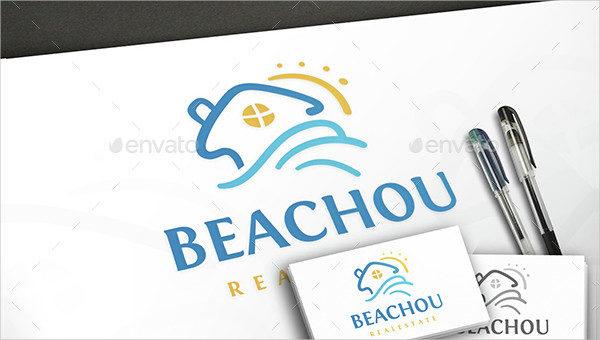 Beach Estate Logo Template