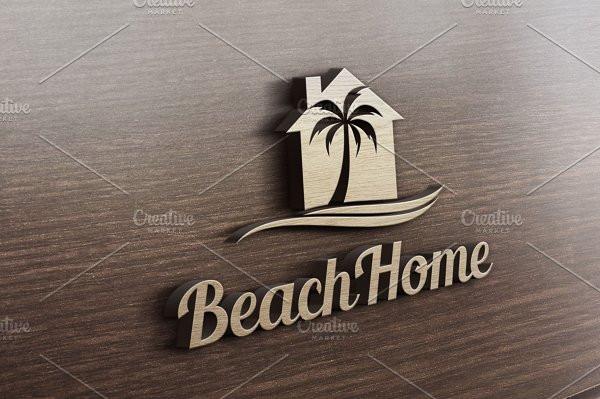 Beach Home Logo Template