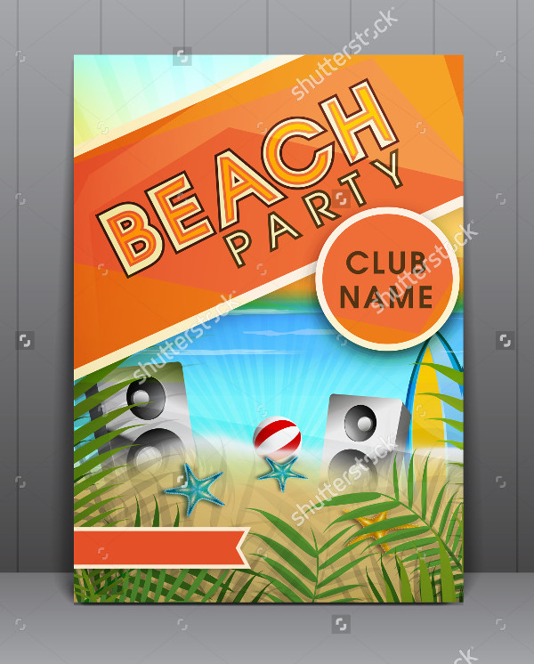 Summer Beach Parties Flyer Design