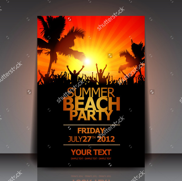 Beach Party Celebration Flyer