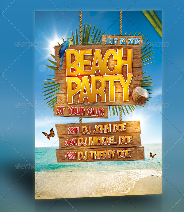 Fashion Beach Party Flyer