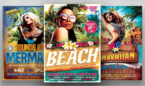 Beach Party Flyers Bundle