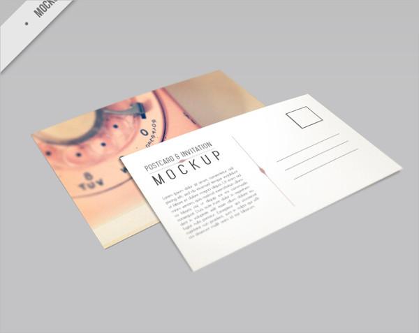 Beautiful Phone Postcard Mock-Up