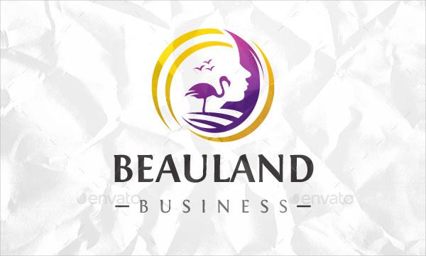 Beauty Face Beach Logo Template