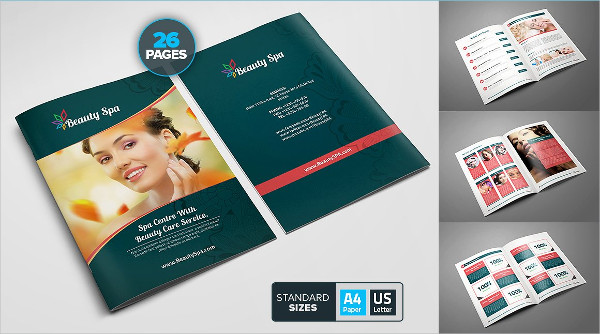 Beauty Spa Booklet Templates