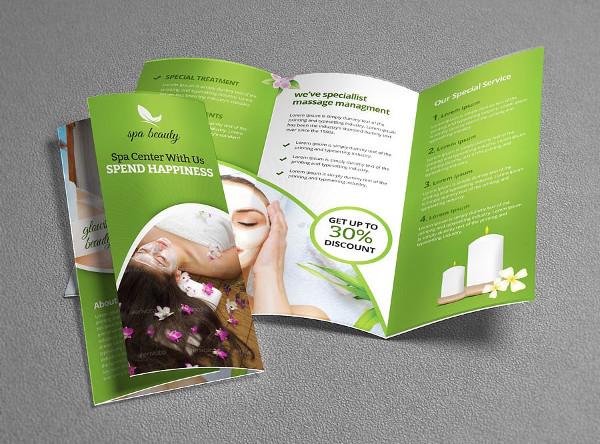 Beauty Spa Tri-Fold Brochure Template