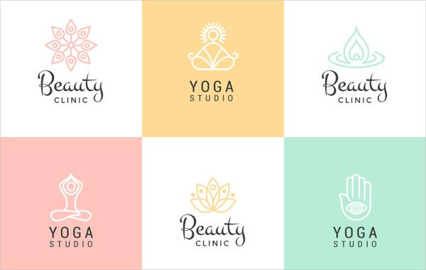 Beauty & Yoga Vector Logo Set
