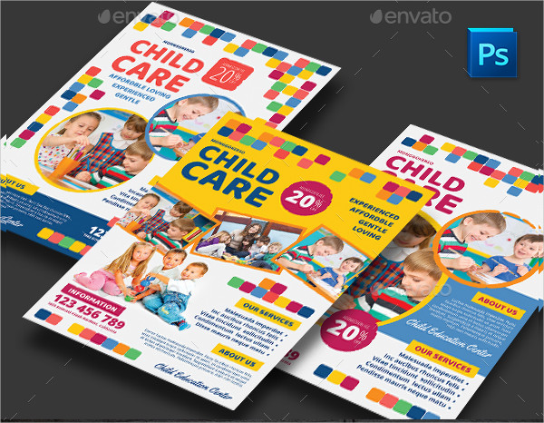 Best Child Care Flyer Template