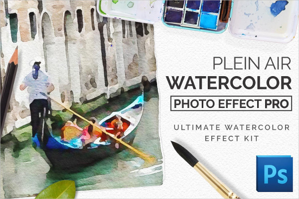 Best Watercolor Photoshop Actions Kit