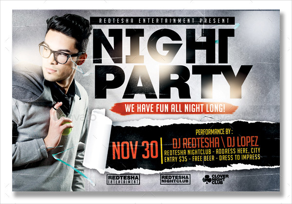 33 night party flyer templates free premium download