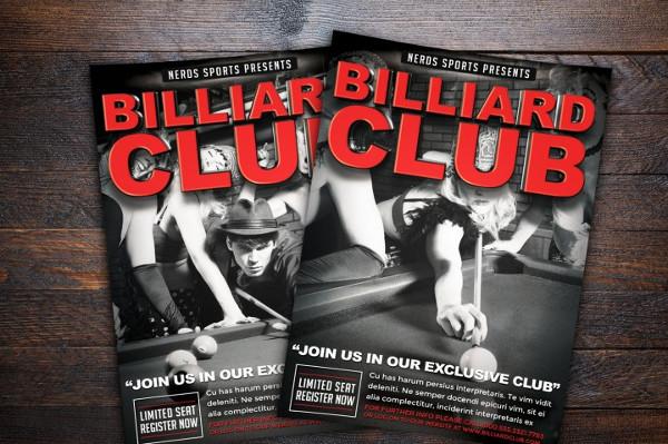 Billiards Club Sports Flyer