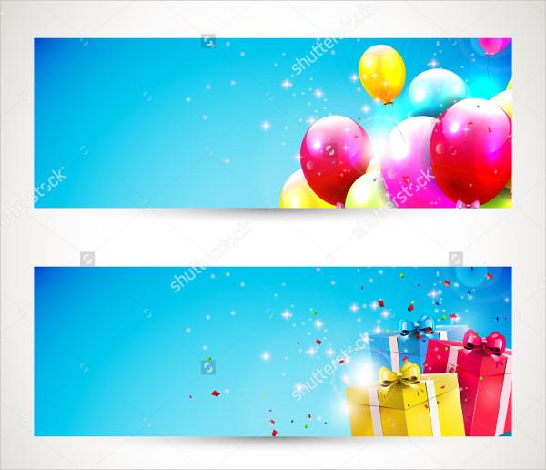 Birthday Banner Templates Vector Set