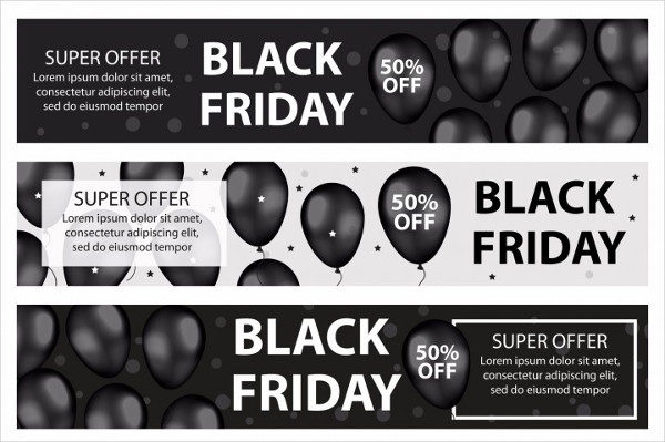 Black Friday Promotional Web Banners