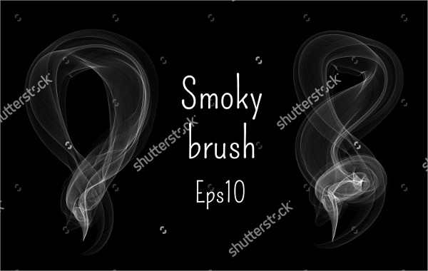 Realistic Smoke Waves Brush
