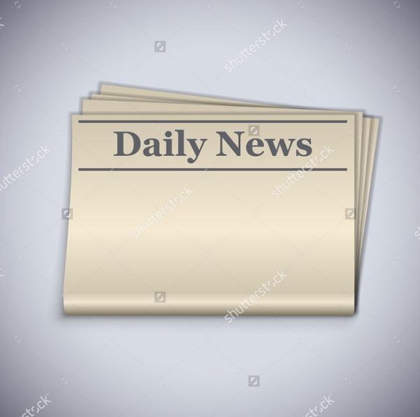 Mockup of Blank Newspaper