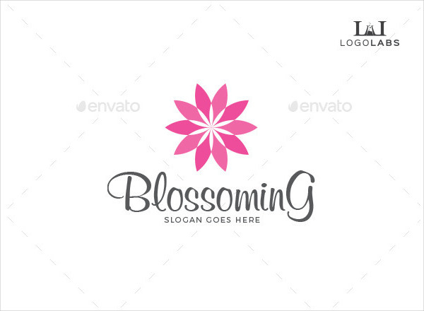 Blossoming Flower Logo Template