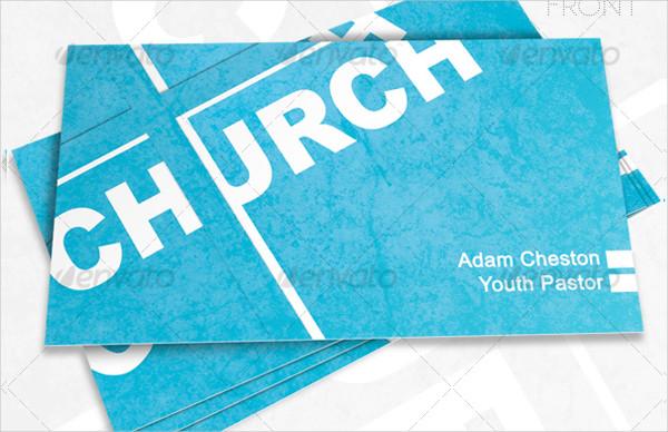 Church Editable Business Card
