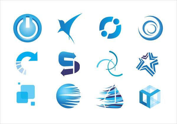 Blue Icons Vector Set Free